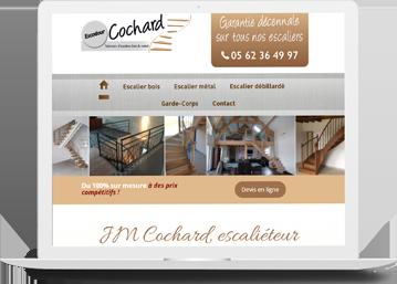 escaliers cochard réalisation agence de communication Toulouse Celicomm