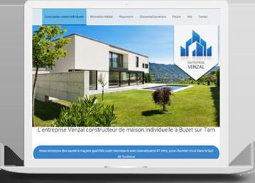 VENZAL Maçonnerie_Création Agence de communication Toulouse Celicomm