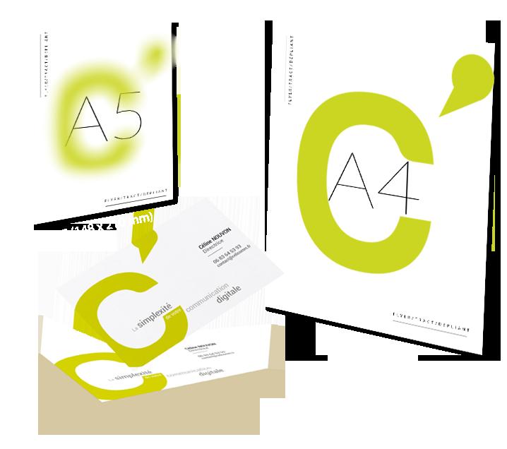 supports de Communication : carte de visite, flyer toulouse